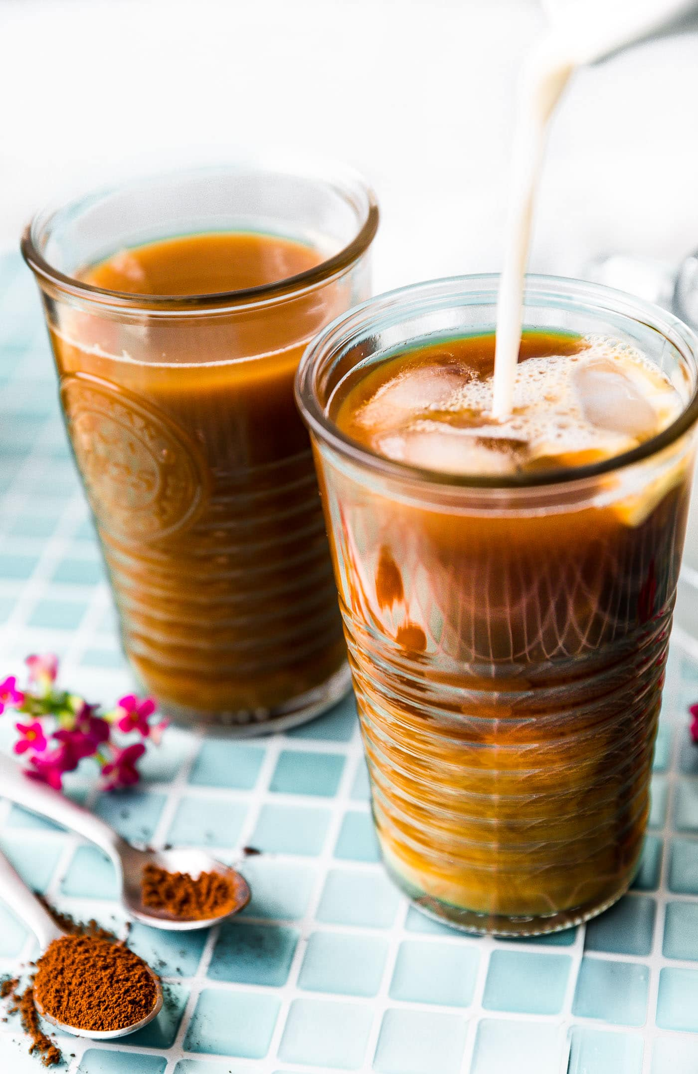 vegan latte - iced