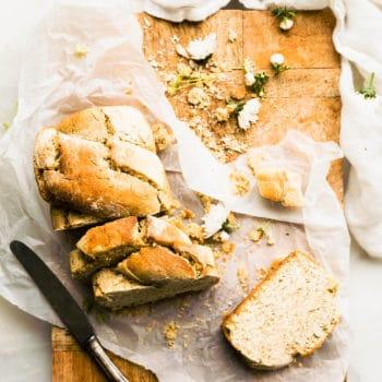 vegan bread sliced