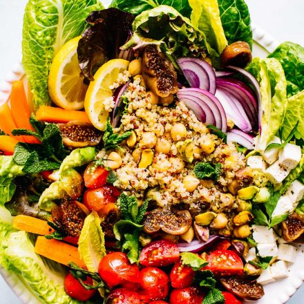 Healthy Moroccan Salad recipe with Chickpea and Quinoa