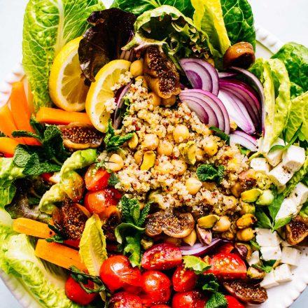 Healthy Moroccan Salad recipe with Chickpea and Quinoa