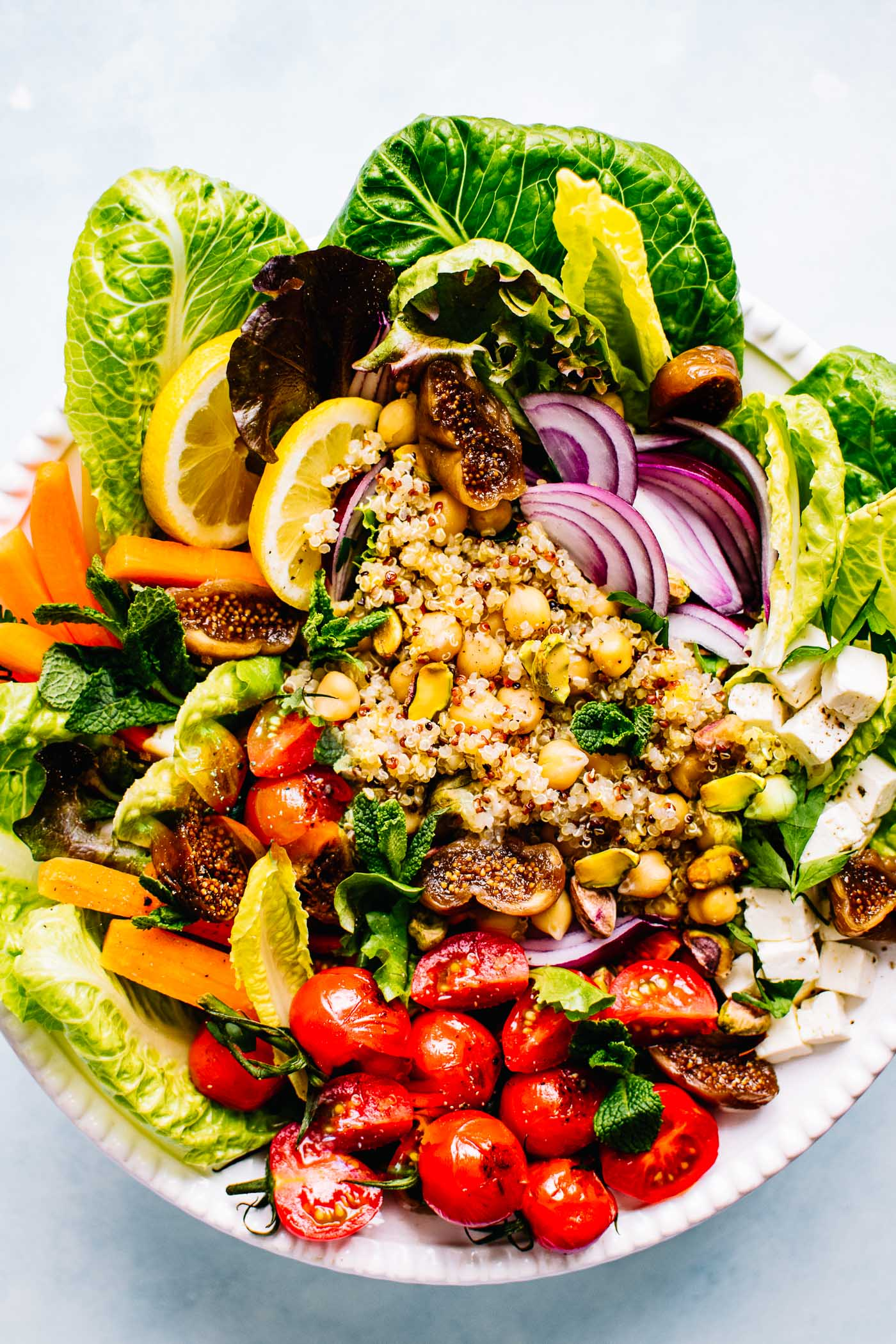 Moroccan Salad With Quinoa And Chickpeas