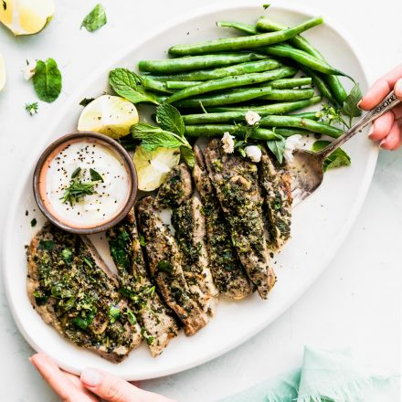 broiled lamb chops with mint chimichurri