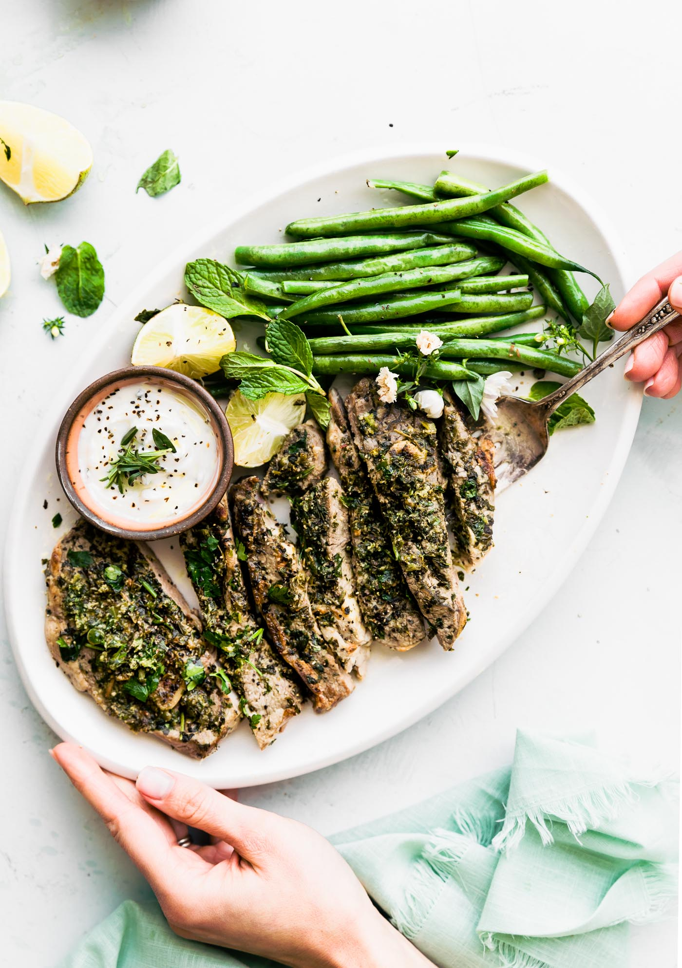 broiled lamb chops with mini chimichurri
