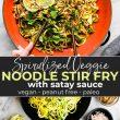 stir fry noodle zoodle satay sauce pin