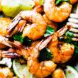 plate of honey lime baked shrimp