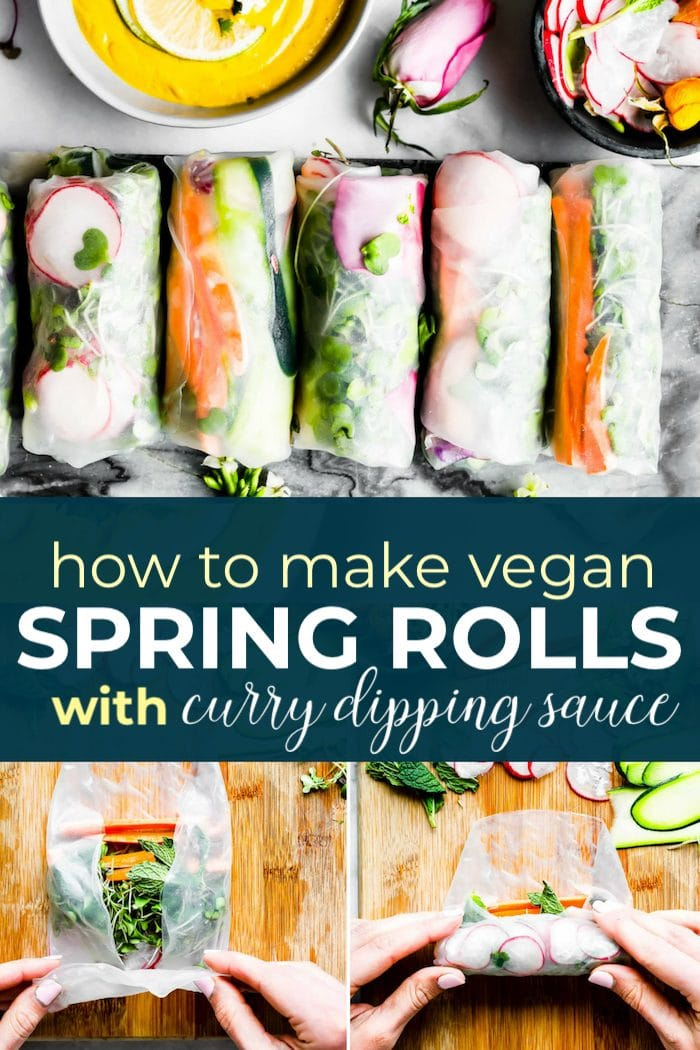 spring rolls and sauce pin
