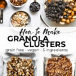 how to make granola clusters collage