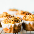 healthy breakfast muffins on cooling rack