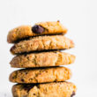stack of almond flour cookies