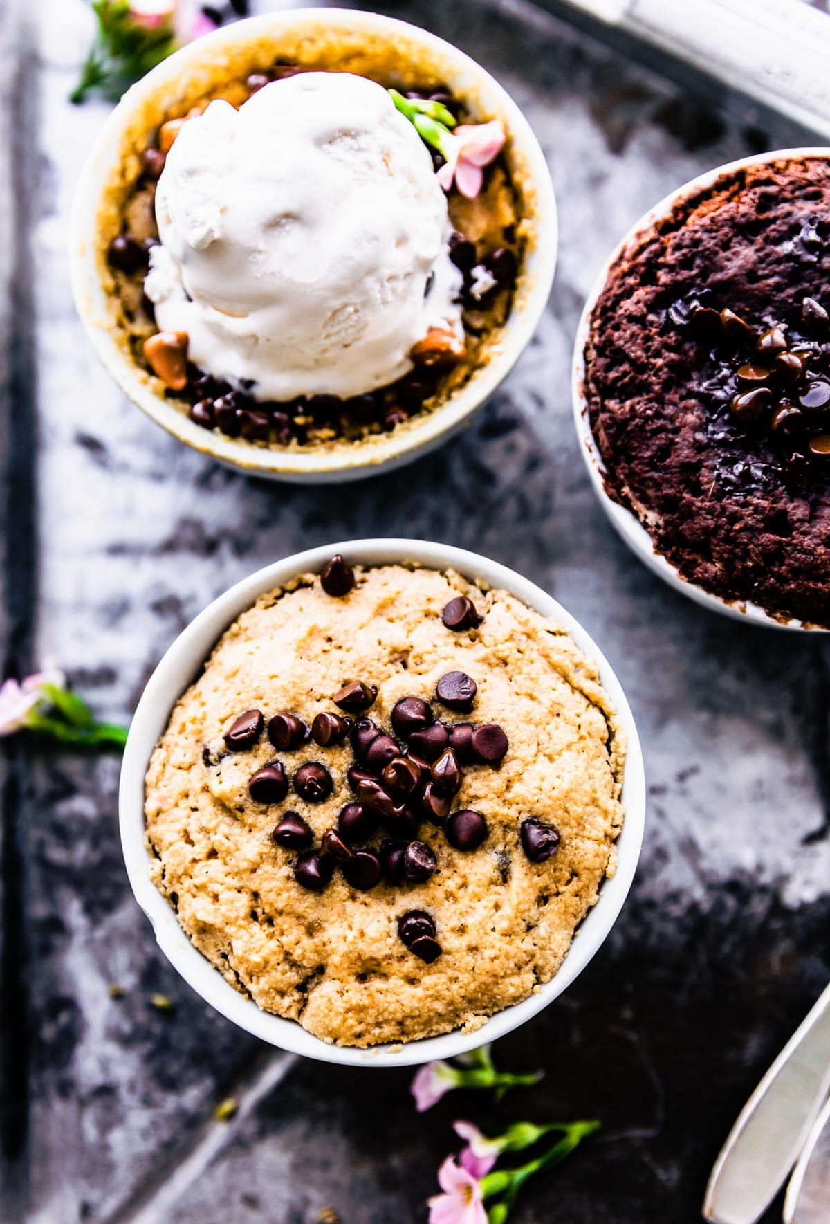 Vegan Chocolate Vanilla Mug Cake Recipe Cotter Crunch