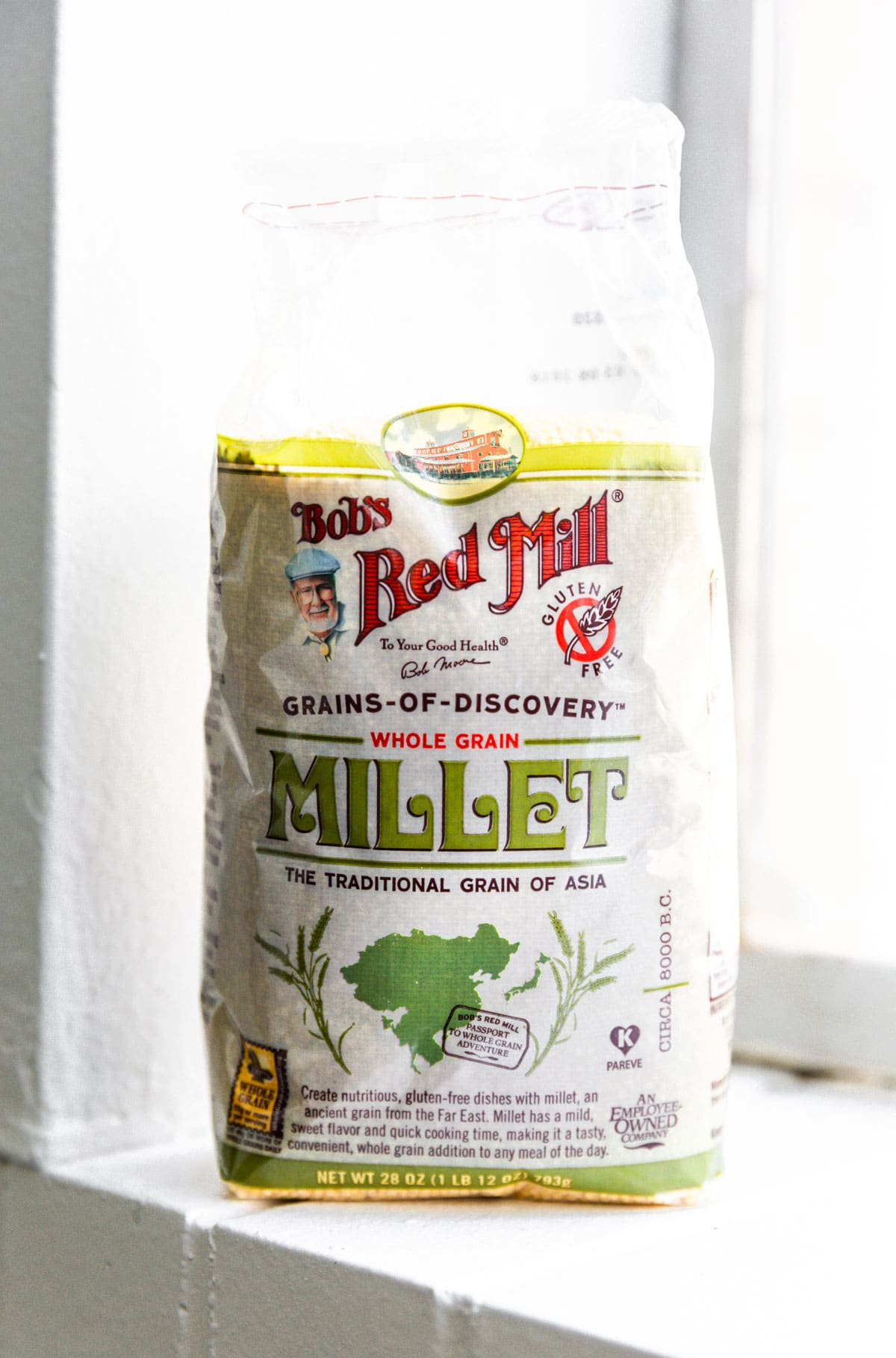 whole grain millet in bag