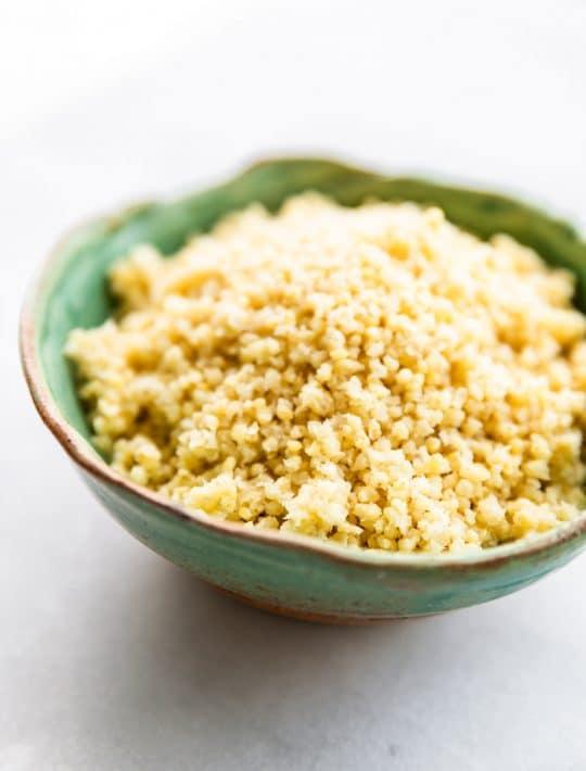 millet in bowl