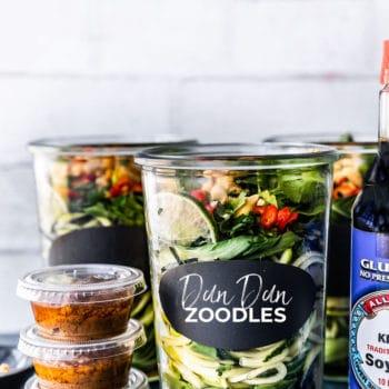 dan dan zoodles in jar with sauce