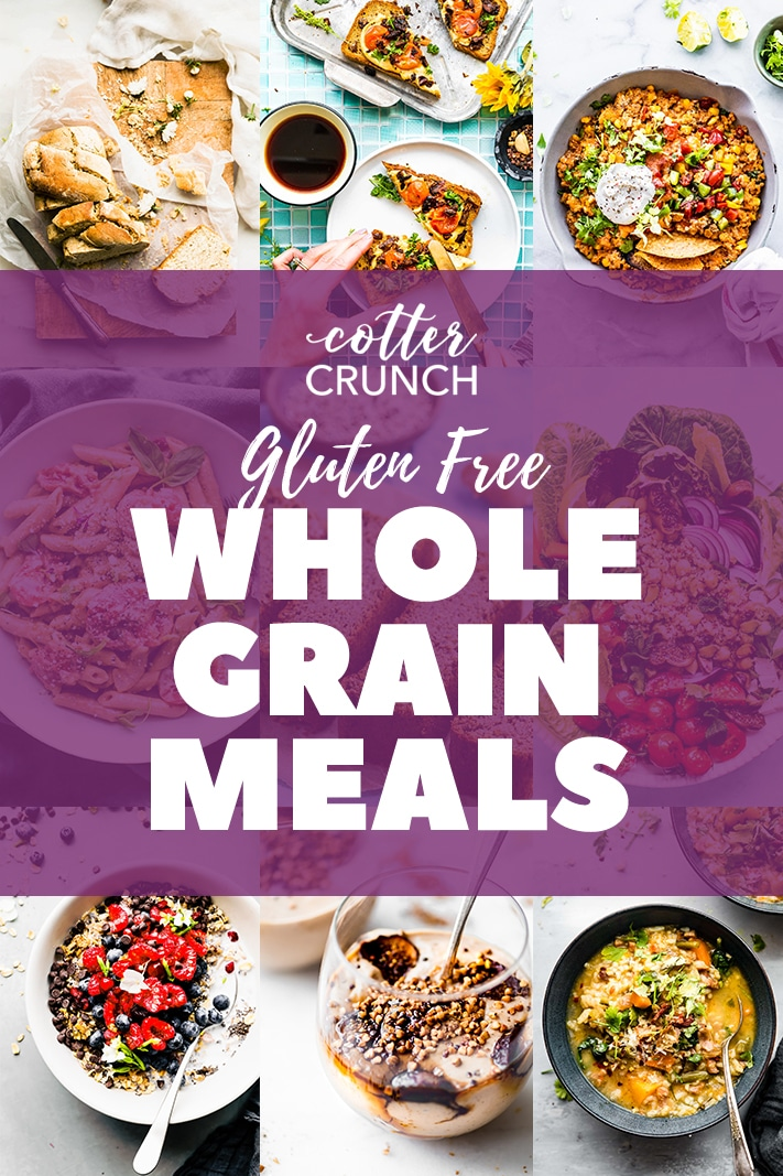 This gluten free whole grains meal plan is full of recipes and ideas to help you incorporate whole grains into your gluten free diet. These healthy meals are delicious and easy to make, too!