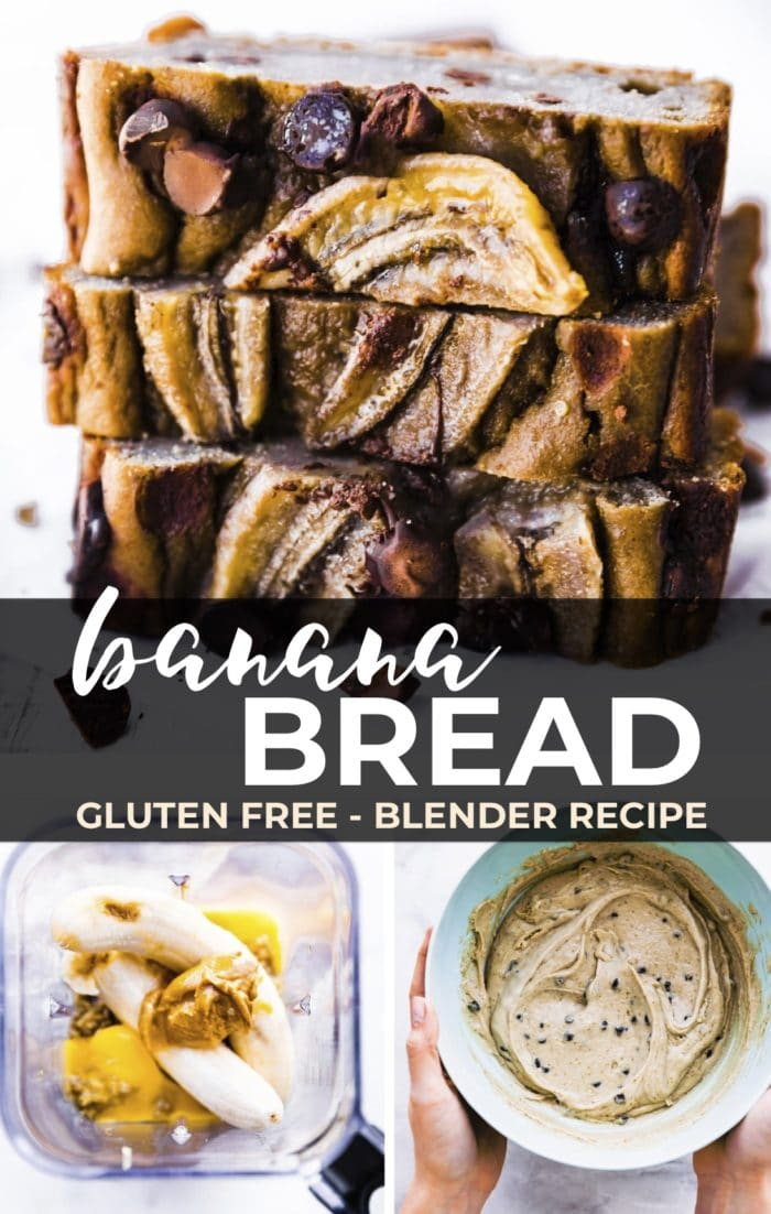 banana bread gluten free pin graphic