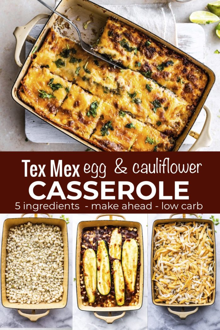 Egg and CheeseCauliflower Casserole is packed with nutrient-rich veggies, protein from Eggland's Best organic eggs, plenty of cheese and loads of spicy Tex-Mex flavors. It's an easy meal prep recipe for breakfast, brunch, or light dinner. Best of all, it's gluten free, low carb/keto, and kid-friendly, too. Dairy free option in recipe card!