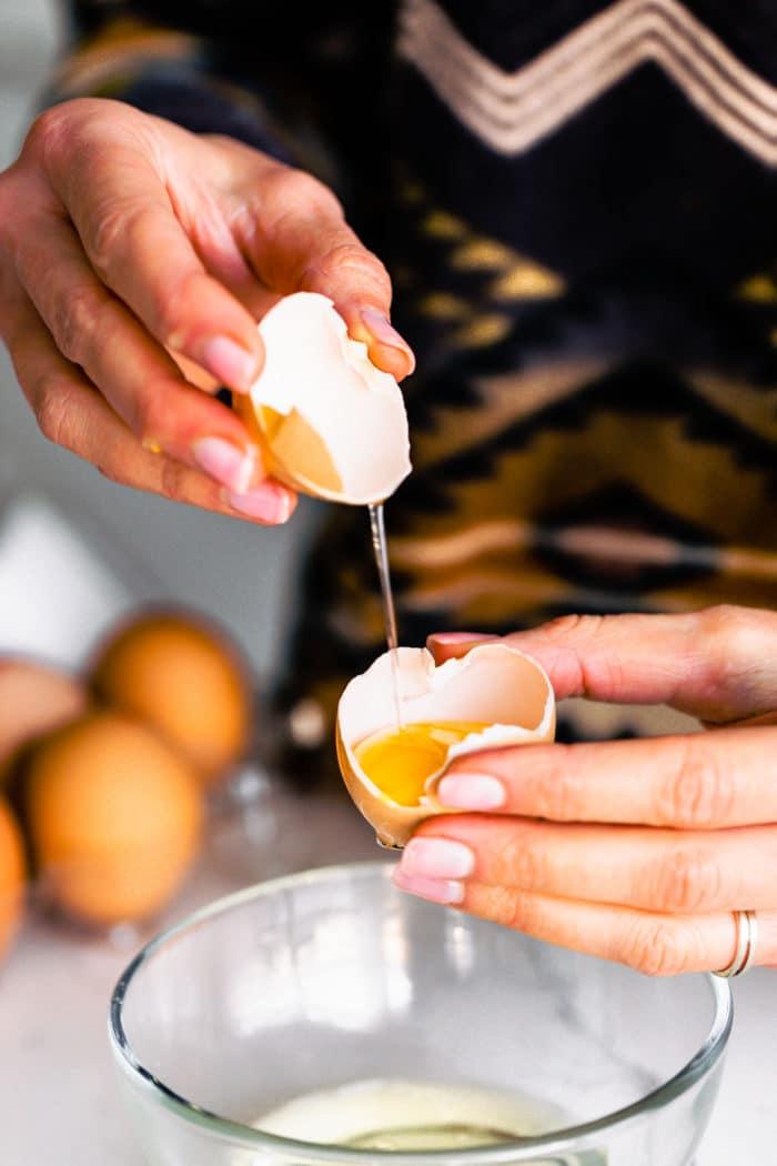 separating egg whites
