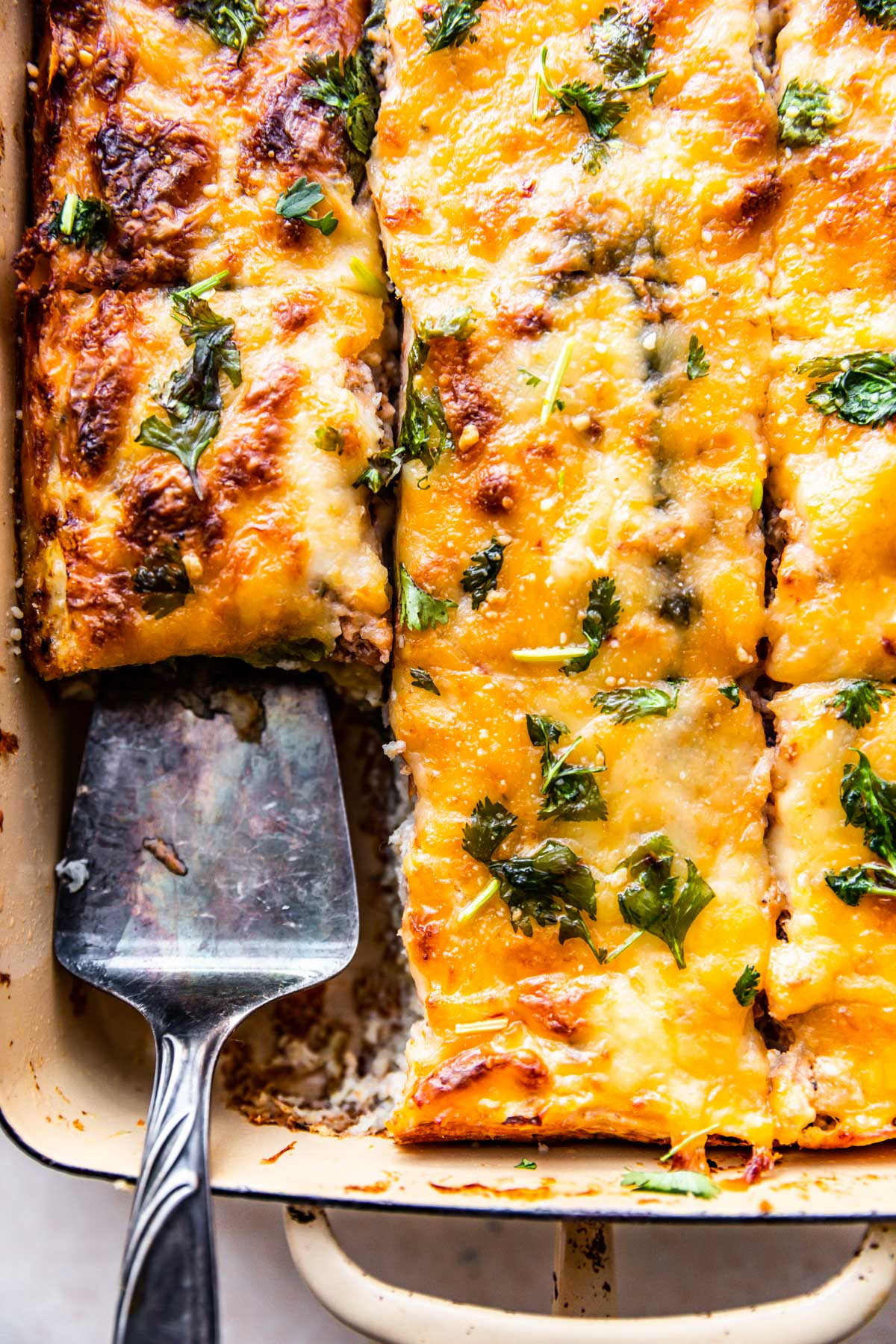 sliced egg casserole