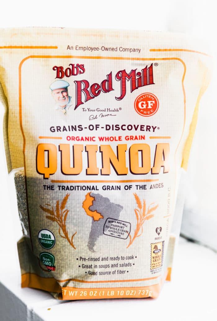 package of bob's redmill gluten free organic quinoa