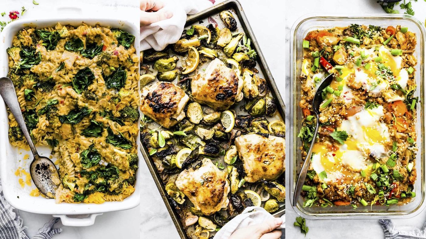 casseroles and chicken