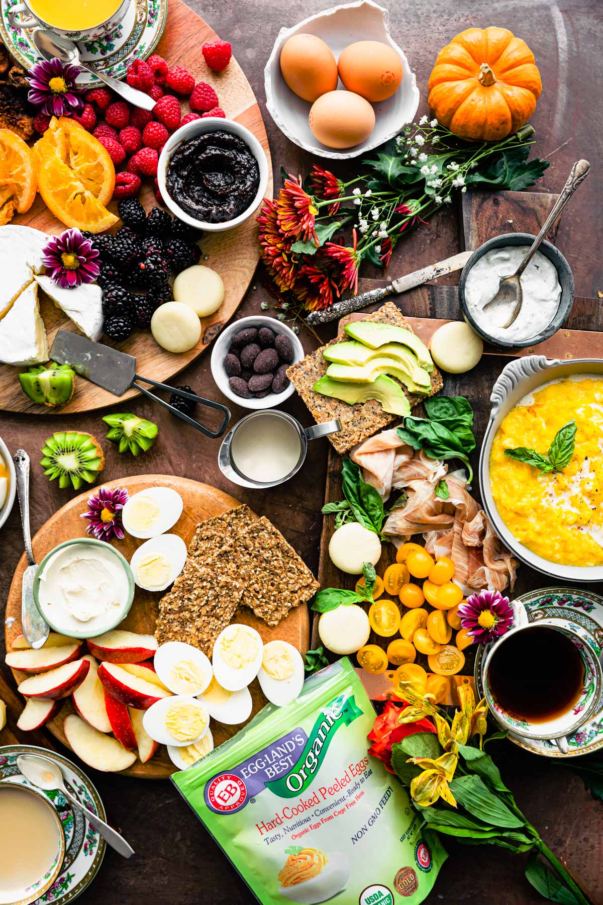 1 of 4 healthy charcuterie board ideas for holiday brunch
