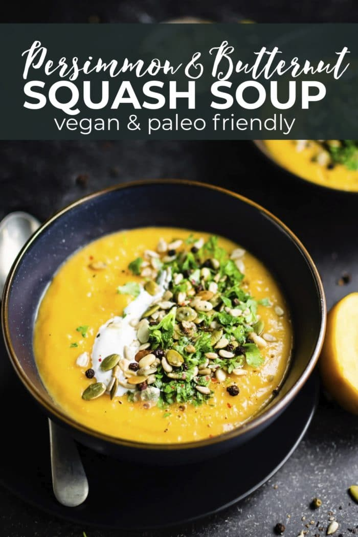 squash soup with text overlay
