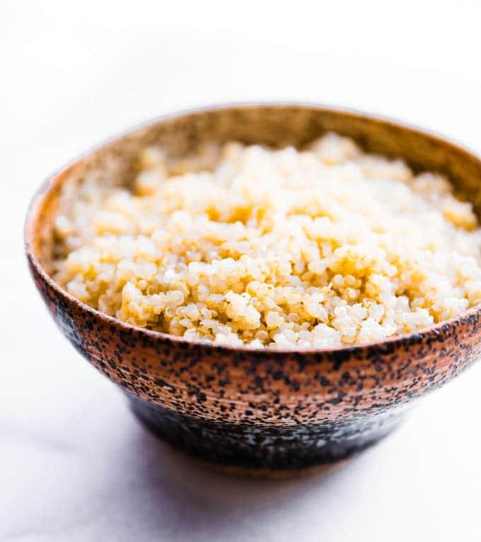 Gluten free quinoa in a bowl