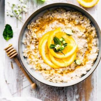 Flat Lay image of the gluten free oatmeal recipe