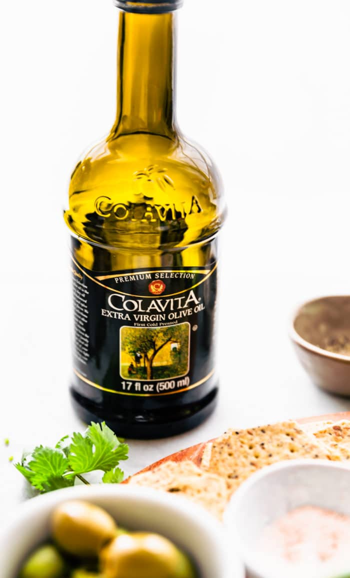 bottle of Colavita extra virgin olive oil
