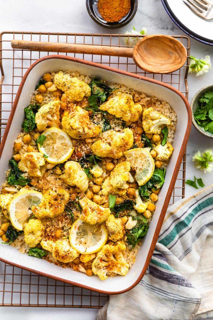 nightshade free anti inflammatory recipe for curried cauliflower bake