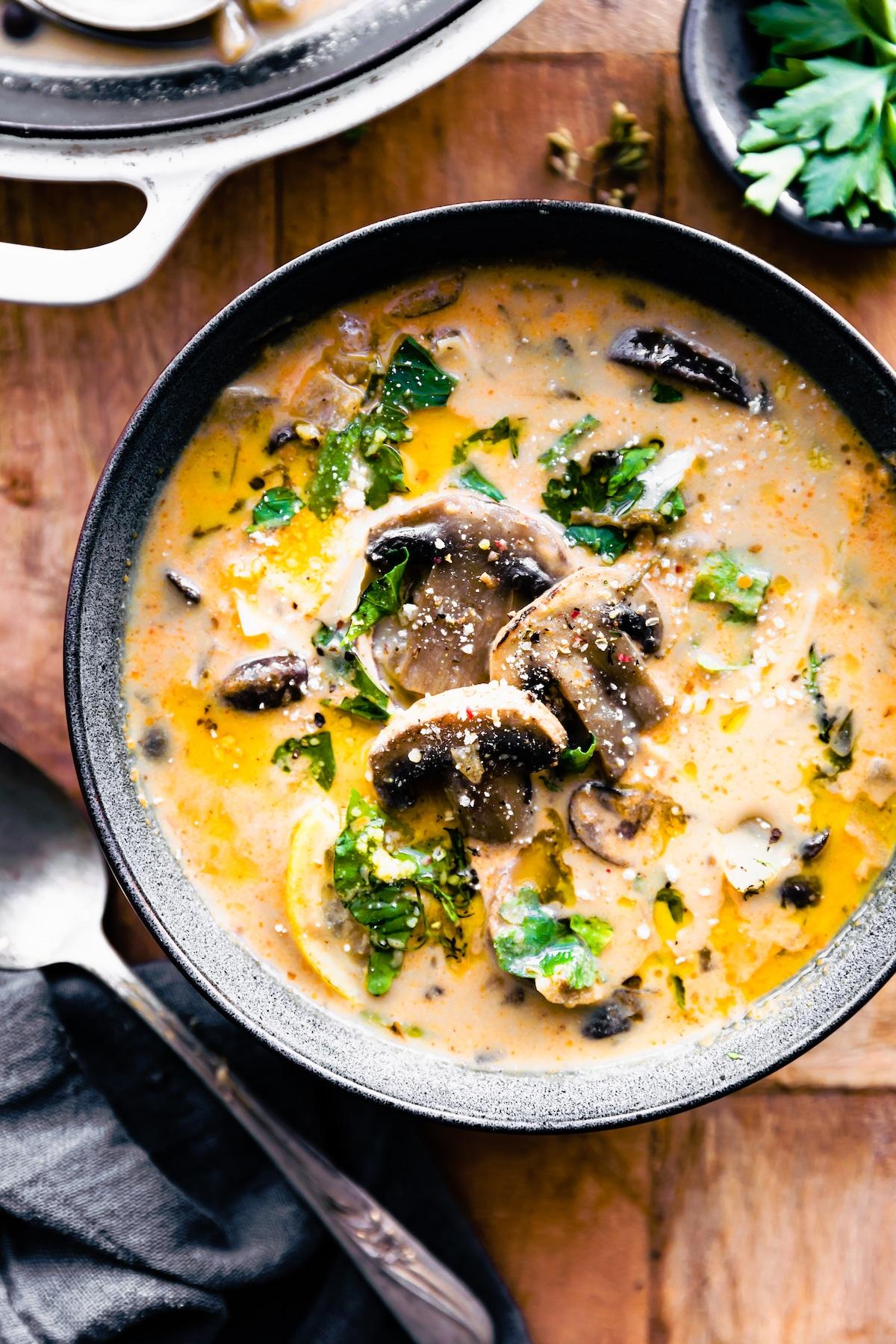 Creamy Vegan Mushroom Soup Dairy Free Gluten Free Cotter Crunch