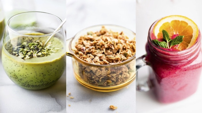 smoothies and granola