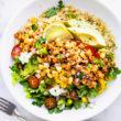 vegan quinoa salad with bbq tempeh