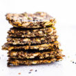 stack of homemade healthy crackers
