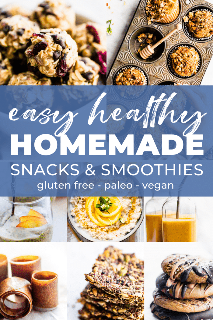 Easy Homemade Snacks & Smoothies