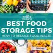 food storage tip collage