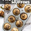 muffins in a pan with hands holding edges