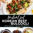 Instant Pot Korean Beef Bulgogi is adapted from the cookbook, Instant Pot Cookbook for Dummies by Elizabeth Ann Shaw. Make this healthy Asian meal for dinner tonight in your electric pressure cooker or on the stove top. Keto recipe option. #keto #instantpot #beef #glutenfree #dinner