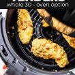 chicken tenders in a air fryer basket