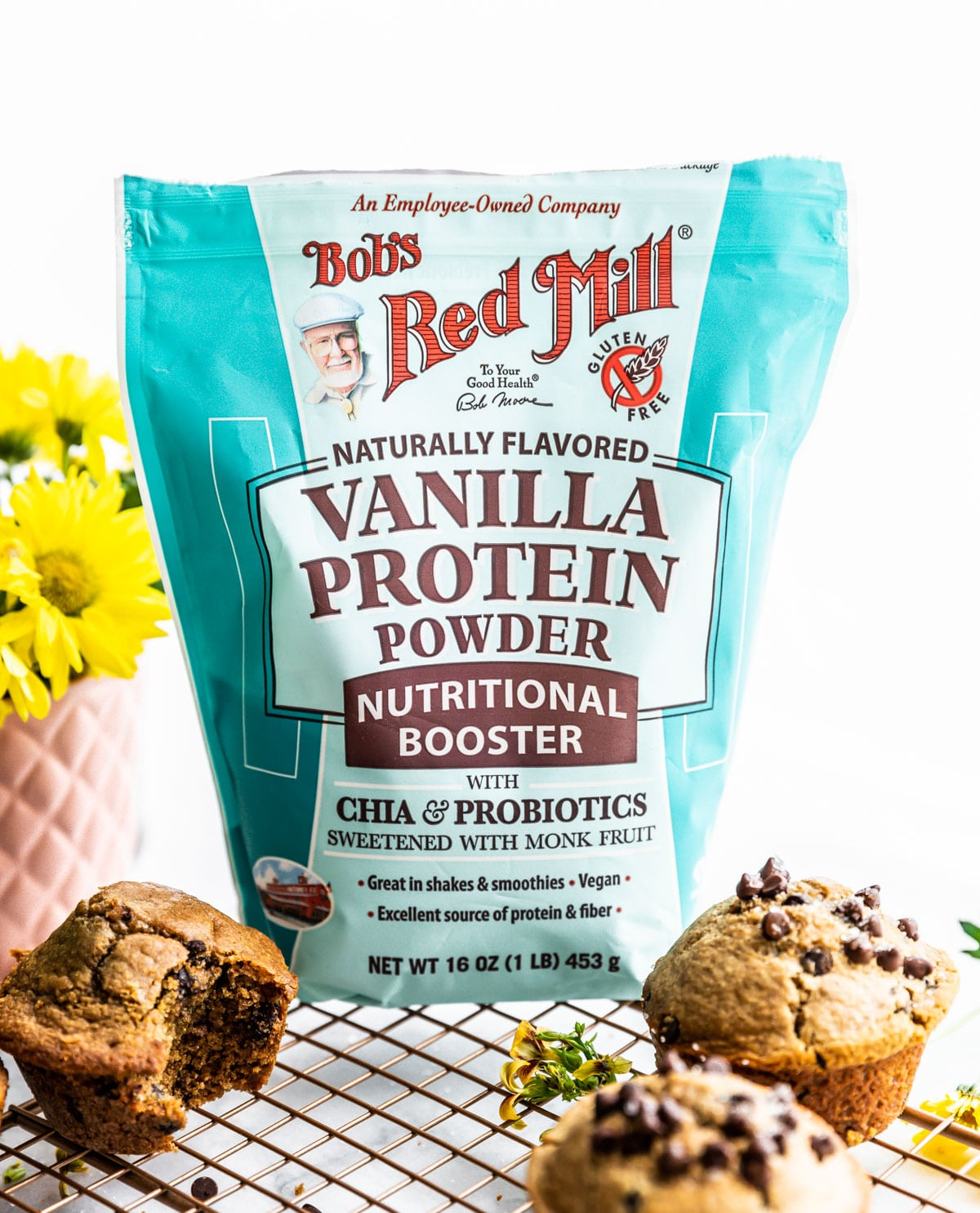bag of Bob's Red Mill vanilla protein powder nutritional booster