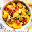 titled photo (and shown) chipotle peach salsa (in bowl)