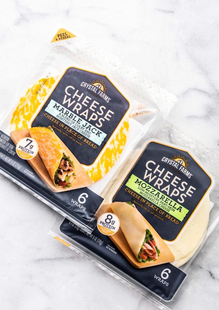 Package of Crystal Farms cheese wraps
