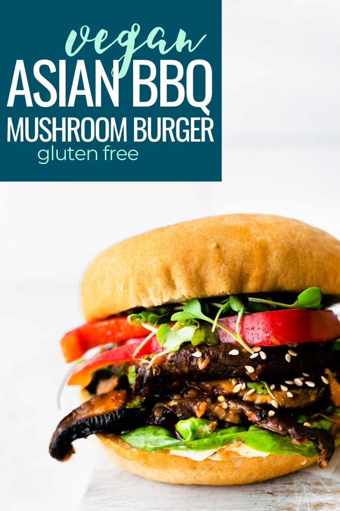 veggie burger with mushroom pin collage