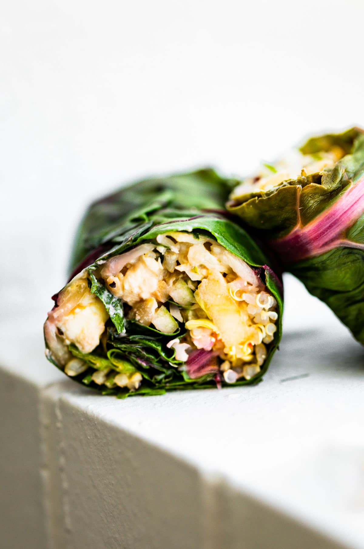 Swiss Chard Salad Wraps With Apple Slaw Vegan Option Cotter Crunch