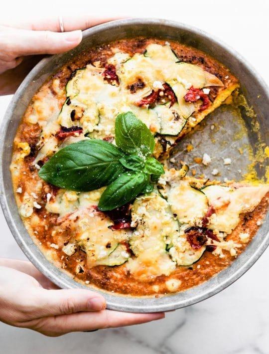 Mediterranean Keto Quiche (Crustless Zucchini Pie)