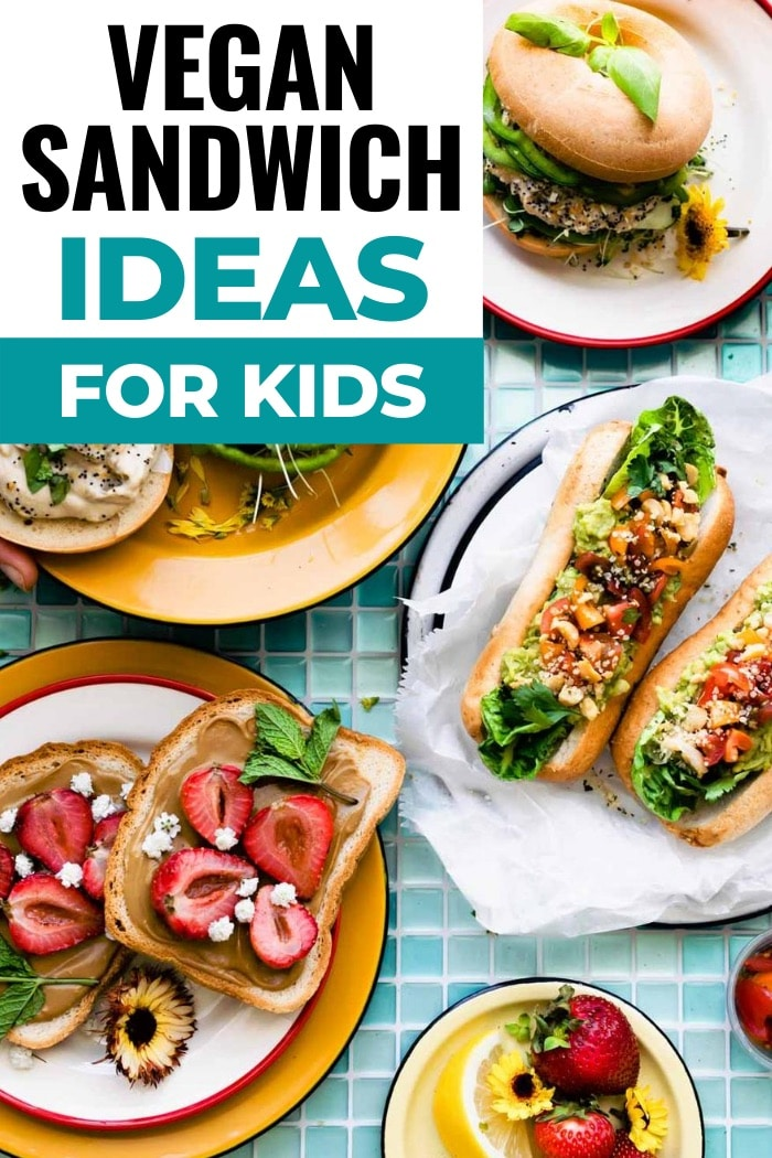 titled photo (and shown): vegan sandwich ideas for kids