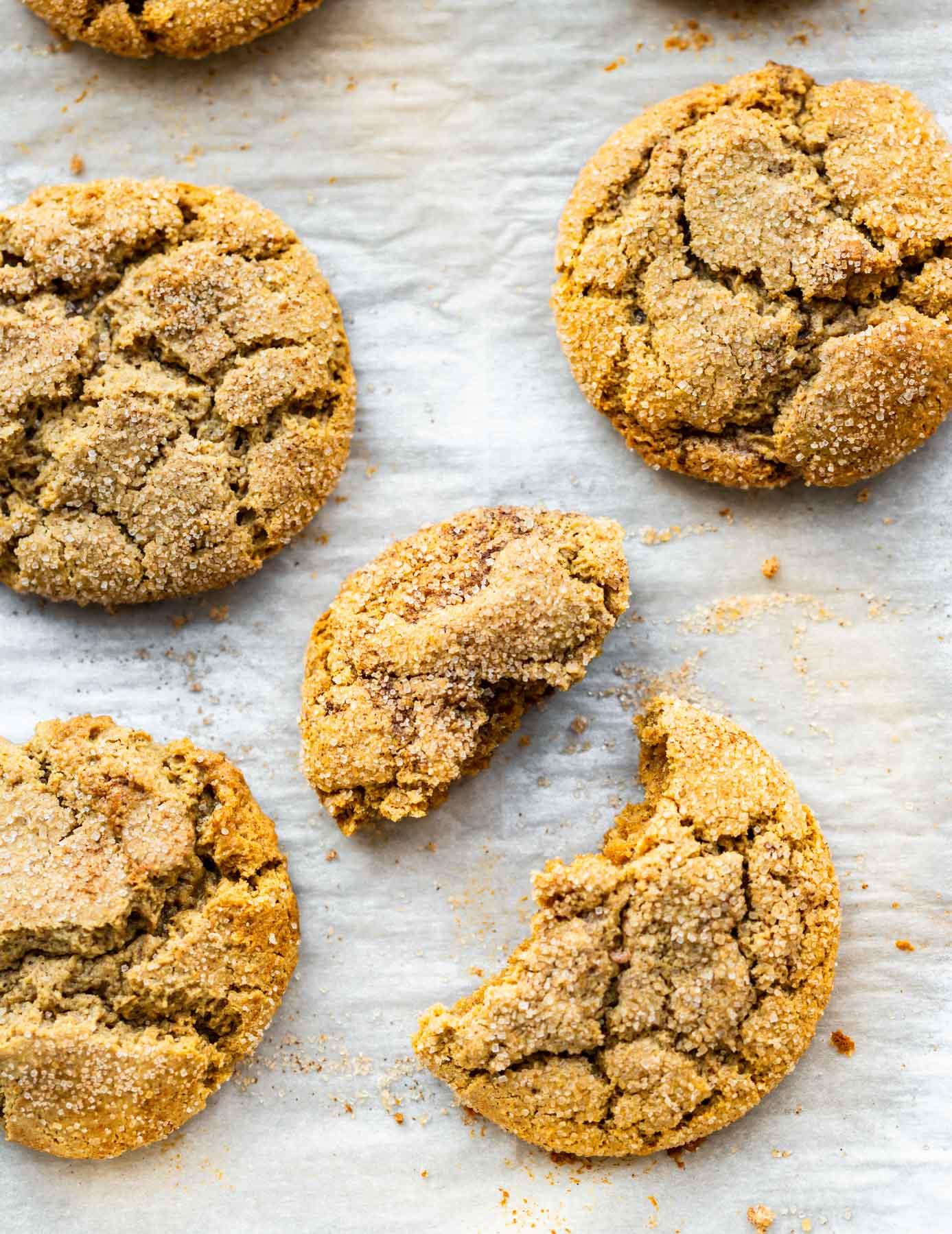 overhead photo: homemade brown butter sugar cookies