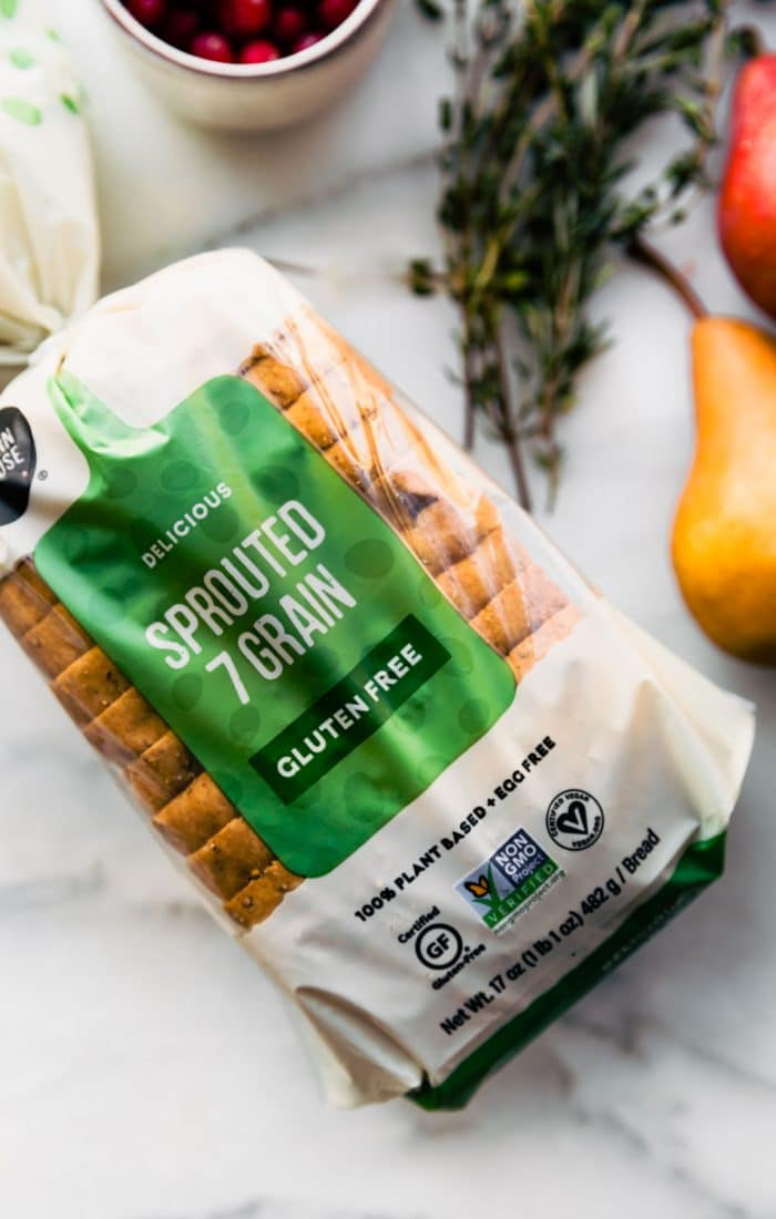 package of Little Northern Bakehouse sprouted 7-grain bread