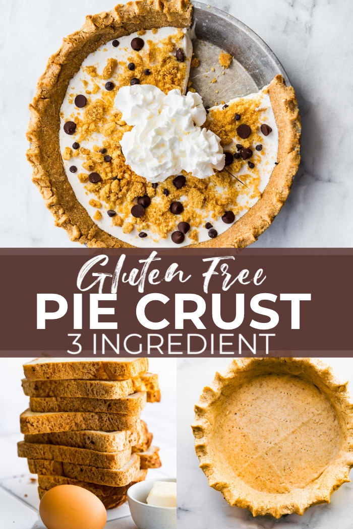 titled image (and shown): 3 Ingredient Gluten Free Pie Crust