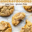 titled image for Pinterest (and shown): Brown Butter Gluten Free Snickerdoodles (egg free)